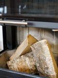 Abre una sesión la chimenea Fotografía de archivo libre de regalías