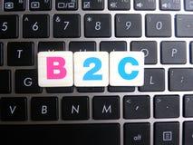 Abreviatura B2C no fundo do teclado Imagens de Stock