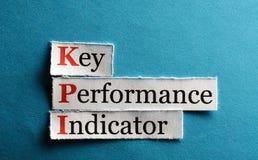 Abreviatura de Kpi Imagens de Stock Royalty Free