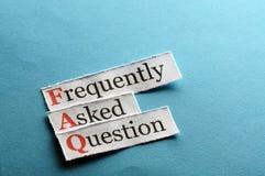 Abreviatura do FAQ Foto de Stock Royalty Free