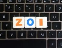 Abreviatura ZOI en fondo del teclado fotografía de archivo libre de regalías