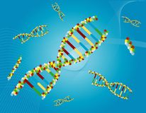 Abrégé sur ADN Image libre de droits