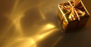 Abrégé sur cadeau d'or Image libre de droits