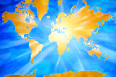 Abrégé sur carte du monde Photos stock