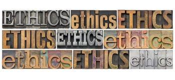 Abrégé sur mot d'éthique Photographie stock libre de droits