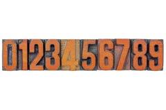 Abrégé sur numéro dans le type en bois Photo libre de droits