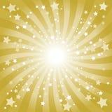 Abrégez le fond d'or d'étoile Images stock
