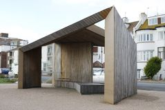 Abri à Bexhill-0n-Sea. Le Sussex. LE R-U photographie stock libre de droits