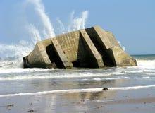 Abri de Bom en Normandie Photographie stock libre de droits