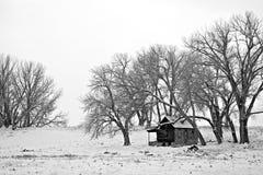 Abri de l'hiver photos stock