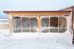 Abri en hiver Photographie stock libre de droits