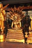 Abri en laiton de serpent de Bouddha Images stock