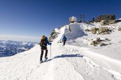 Abri Simon Bivouac Hut, Aiguille du Midi, Chamonix Royalty Free Stock Photo