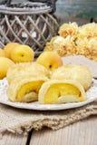 Abricó na pastelaria, prato austríaco popular Fotos de Stock