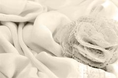 abric dekorativ bakgrundsblomning Royaltyfria Bilder