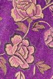 Abric textur för blomma Arkivbild