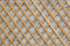ABRICK WALL with crossed wooden strips Royalty Free Stock Images