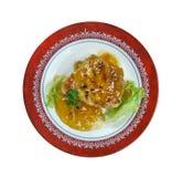 Abricot Dijon Pork Chops images libres de droits