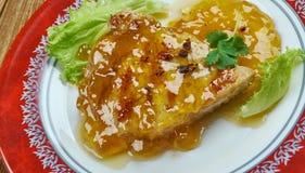 Abricot Dijon Pork Chops images stock