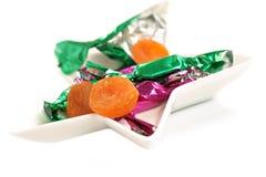 Abricot sec dans un emballage de sucrerie Images stock