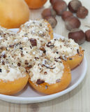 Abricots bourrés Images stock