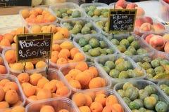 Abricots, perziken en Pruimen Stock Foto