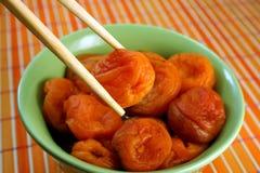 Abricots secs bouillis Photo libre de droits