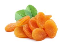 Abricots secs et feuilles photographie stock