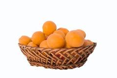 Abricots sur un fond blanc Images stock