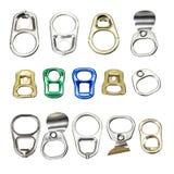 Abridor de lata da tração do anel Fotografia de Stock