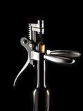 Abridor do Corkscrew para frascos de vinho Imagens de Stock