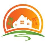 Abriga o logotipo ilustração royalty free