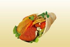 Abrigo con la pescado-hamburguesa Imagen de archivo