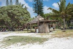 Abrigo da grama na praia de Yejele Foto de Stock Royalty Free