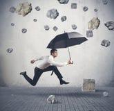 Abrigo da tempestade da crise Foto de Stock Royalty Free