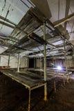 Abrigo de bomba abandonado soviete da guerra fria do cargo Fotografia de Stock