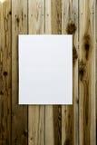 Abrigo de la lona en la pared de madera Imagen de archivo libre de regalías