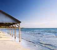 Abrigo de la playa Fotos de archivo libres de regalías