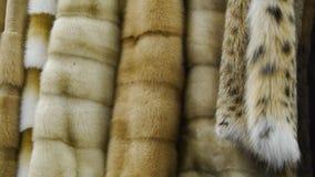 Abrigo de pieles en la tienda