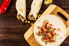 Abrigo mexicano del tortila Fotografía de archivo