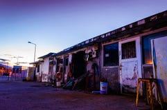 Abrigos Desolated dos pescadores Imagens de Stock