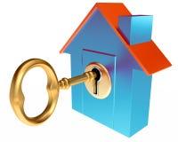 Abrigue a chave Imagem de Stock Royalty Free