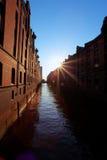 Abrigue la ciudad de Hamburgo, Alemania Fotografía de archivo