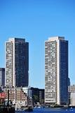 Abrigue las torres en Boston Imágenes de archivo libres de regalías
