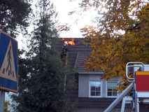 Abrigue o incêndio Imagem de Stock