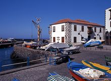 Abrigue, Puerto de la Cruz, Tenerife. Foto de Stock