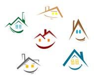 Abrigue símbolos Imagens de Stock Royalty Free