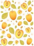 abrikozen achtergrond Royalty-vrije Stock Afbeeldingen
