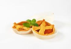 Abrikozencakes met rooster Stock Afbeelding