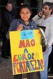 25 Abril -移民在葡萄牙 免版税库存照片